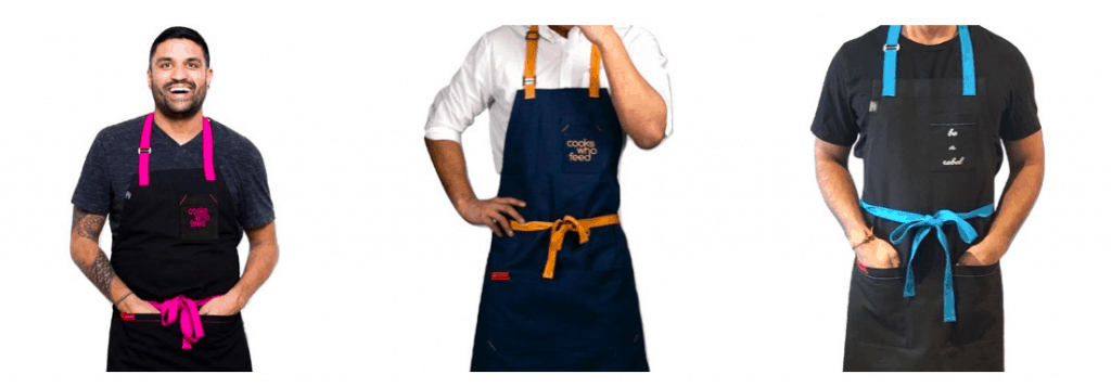 Cooks Who Feed – Handcrafted aprons